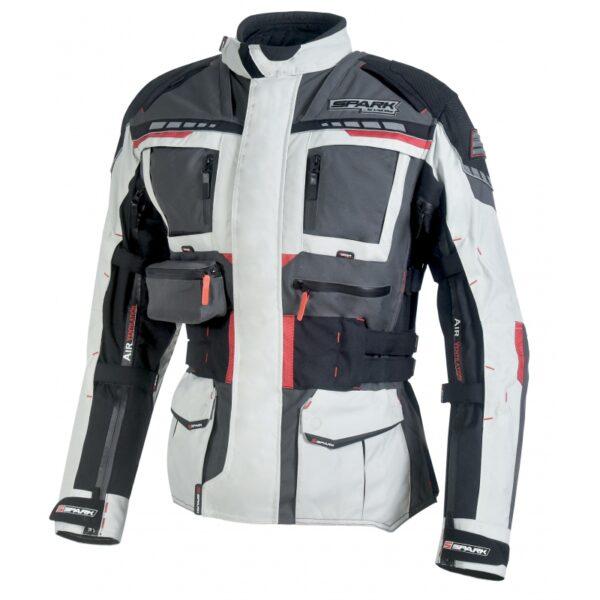 Spark Avenger moto bunda šedá - 6XL