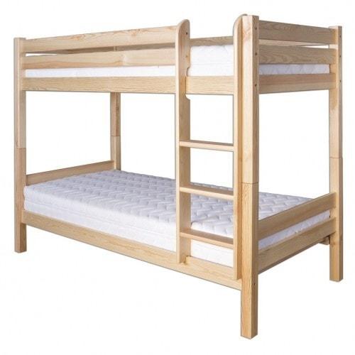 Drewmax Patrová postel LK136 80 x 200 cm šedá